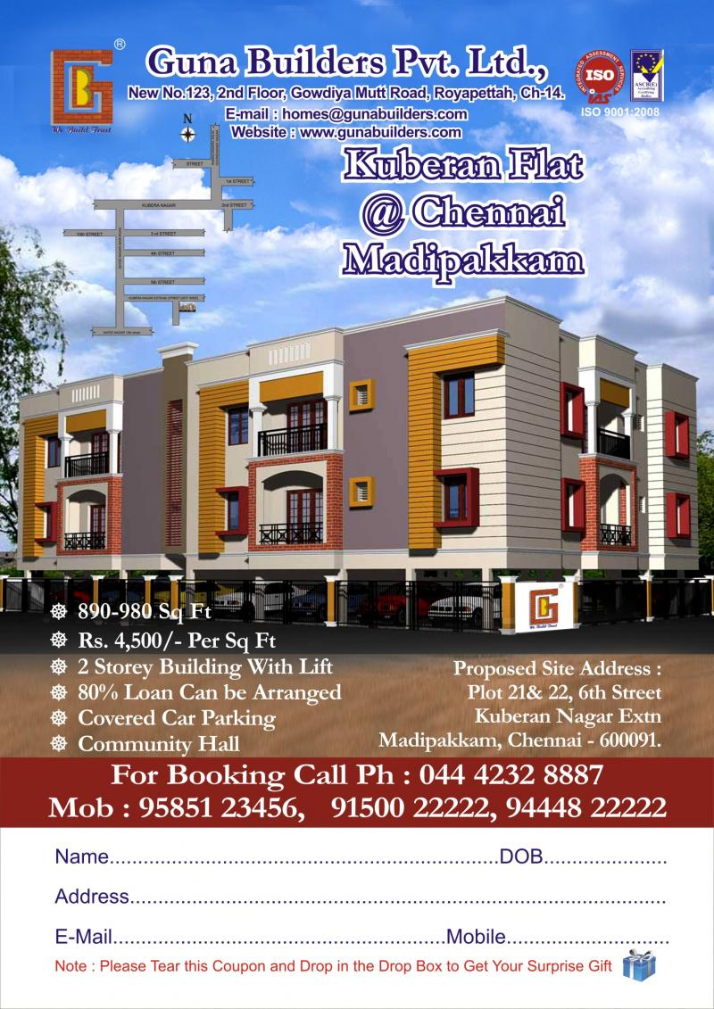 Flat for Sale ``Kuberan Flat'' at Madipakkam
